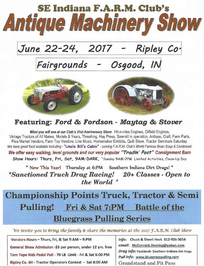 SE Indiana F.A.R.M. Club's Antique Machinery Show